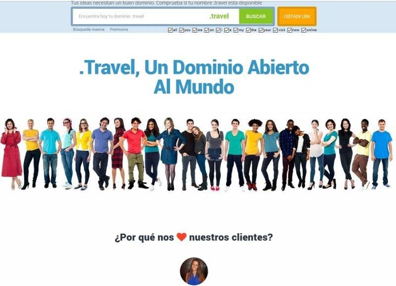 .travel es la extensión más utilizada en webs oficiales