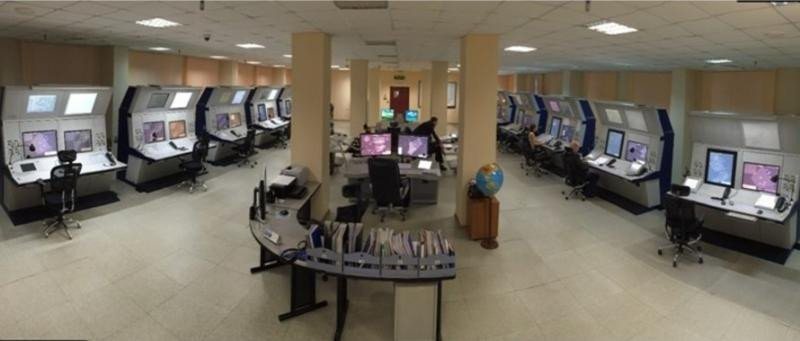 Centro de control aéreo ruso.