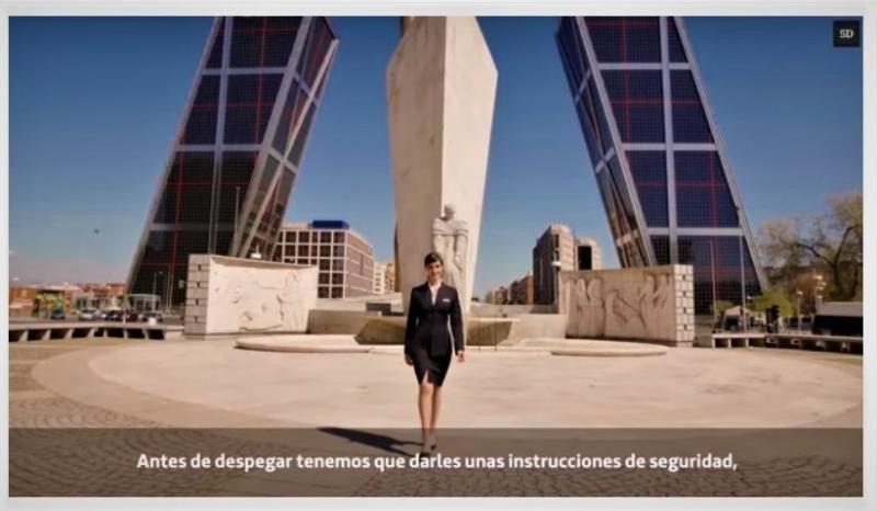 Iberia lanza un rompedor vídeo de seguridad con Madrid de fondo