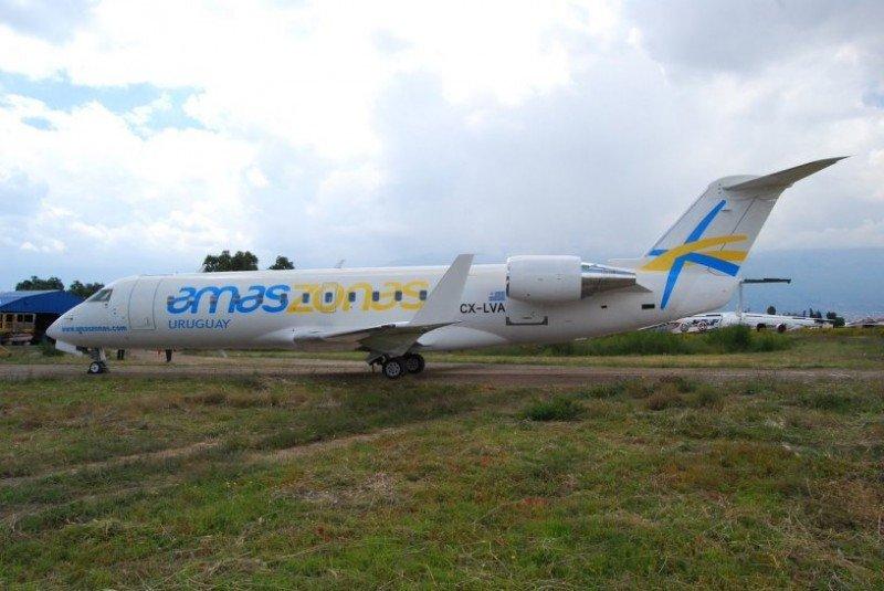 Con su segundo avión autorizado y operativo la compañía podrá reforzar sus vuelos desde el próximos mes. Foto: Amaszonas Uruguay.