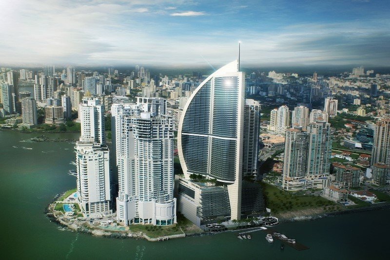 Trump Ocean Club International Hotel and Tower, en Punta Pacífica, Ciudad de Panamá. Foto: Trump International.