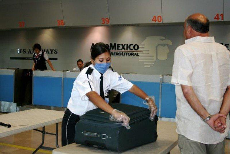 Controles de seguridad en aeropuerto de México. Foto: DCC