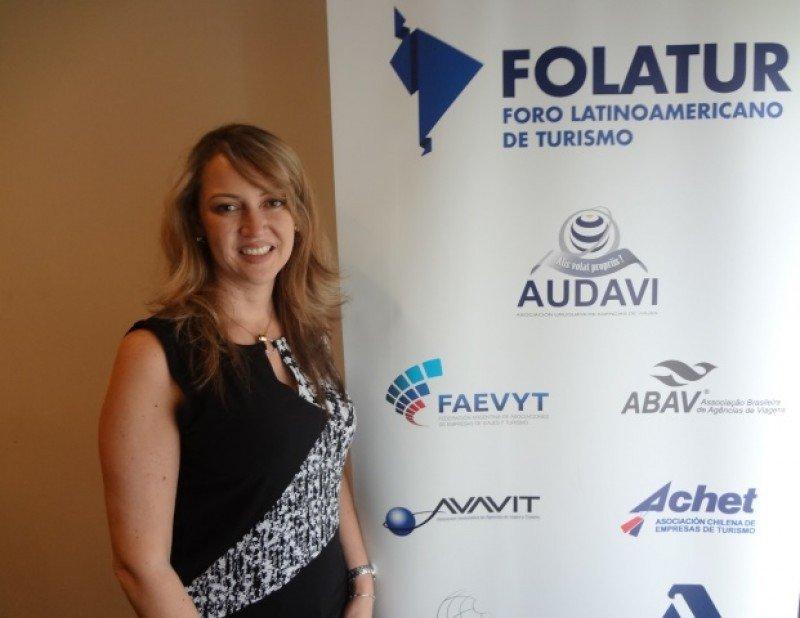 Paula Cortés, presidenta de ANATO y Folatur.