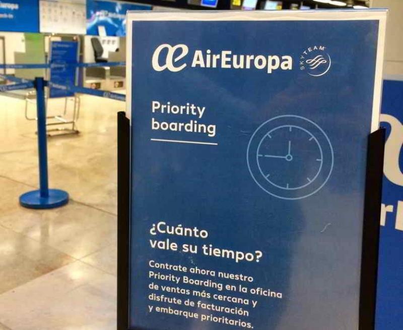 Air Europa lanza la facturación y embarque prioritarios en 21 aeropuertos