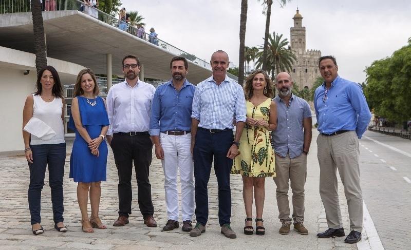 Los responsables de Turismo de Sevilla, Málaga, Granada y Córdoba.