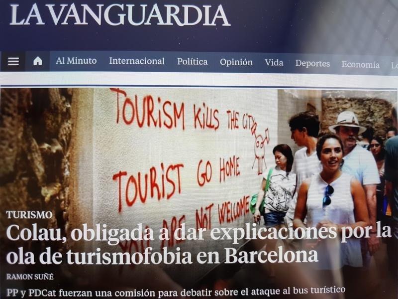 Titular en la versión electrónica de La Vanguardia.