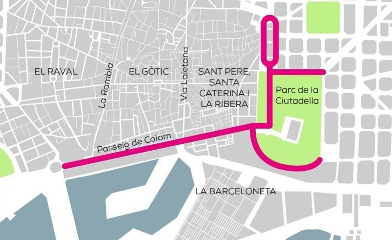 Rutas estipuladas para segways y patinetes eléctricos en el distrito de Ciutat Vella, Barcelona