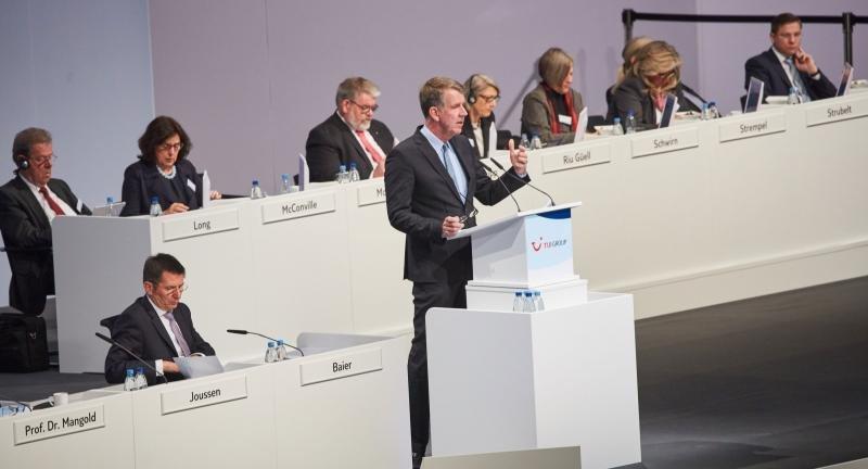 El CEO de TUI Group, Friedrich Joussen.