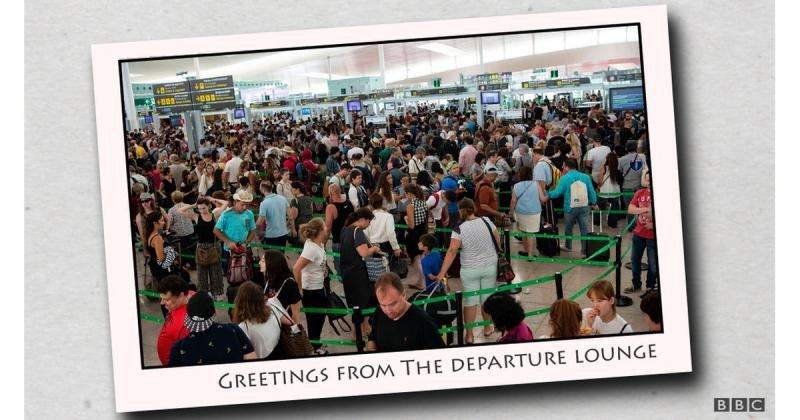 Uno de los memes que corren por internet en relación a la huelga en los controles de seguridad del aeropuerto de Barcelona