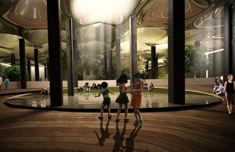 Recreación virtual del futuro parque subterráneo Lowline, que abrirá en Nueva York en 2021.