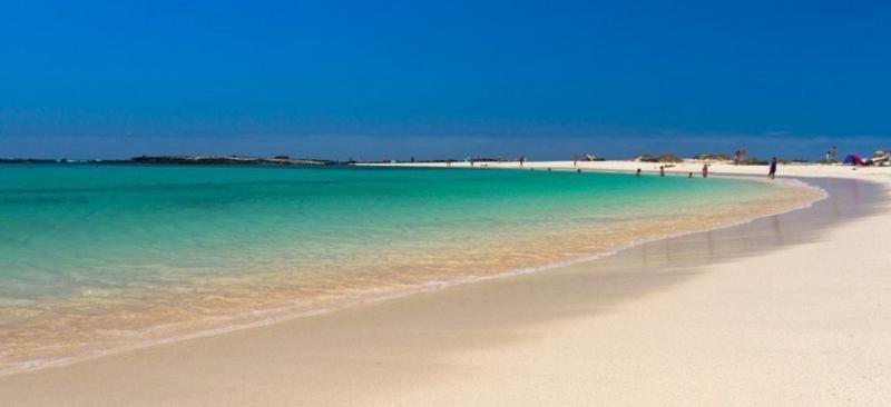 Las playas de Canarias están en perfectas condiciones. Foto: Playa de La Concha, Fuerteventura.