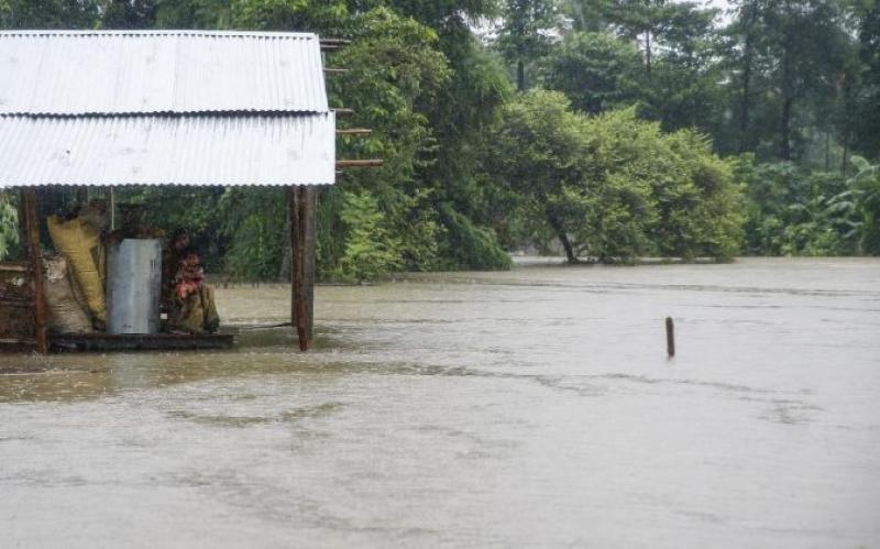 Inundaciones en Nepal. Imagen: Efe.