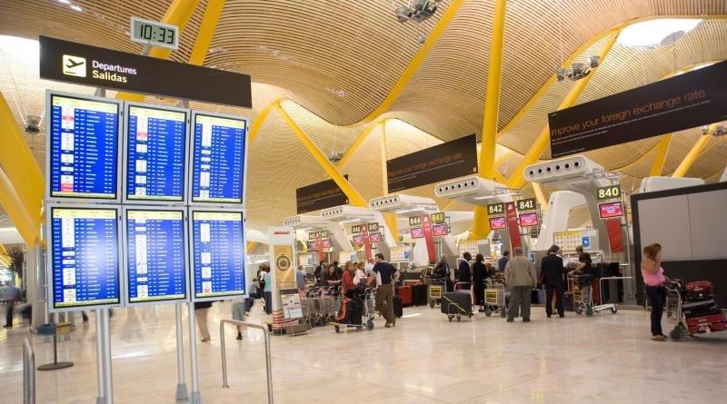 El Aeropuerto Adolfo Suárez Madrid-Barajas registró el mayor número de pasajeros. Foto: Iberia.