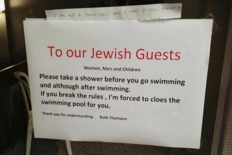 Un hotel suizo provoca un conflicto diplomático por un cartel antisemita