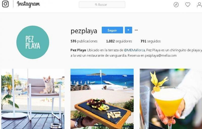 Imagen del perfil del restaurante Pez Playa en Instagram.