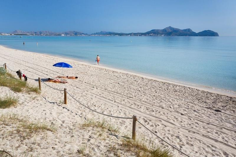 Playa de Muro, en Mallorca, se sitúa en segunda posición. Imagen cedida por el Ayuntamiento de Muro.