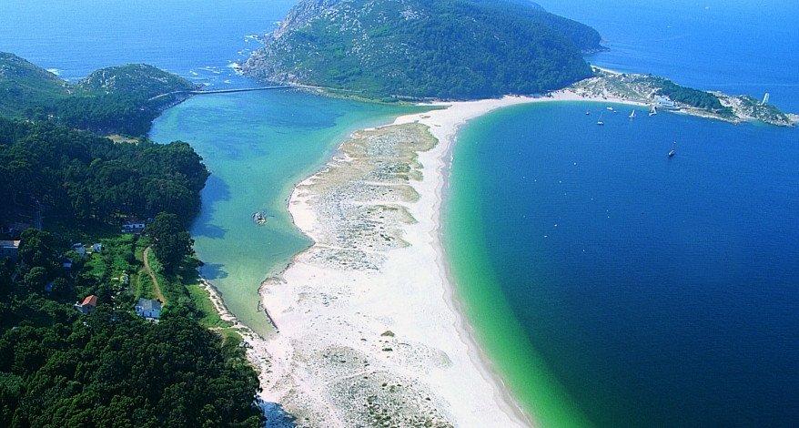 Las islas Cíes forman parte del Parque Natural de las Islas Atlánticas.