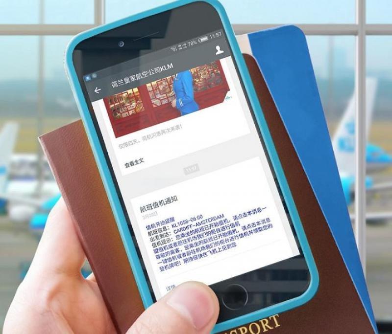 Desde mayo los clientes pueden recibir vía WeChat la confirmación de reserva del billete, la notificación del check-in, la tarjeta de embarque y las actualizaciones del estado del vuelo. Ahora pueden pagar con WeChat Pay.