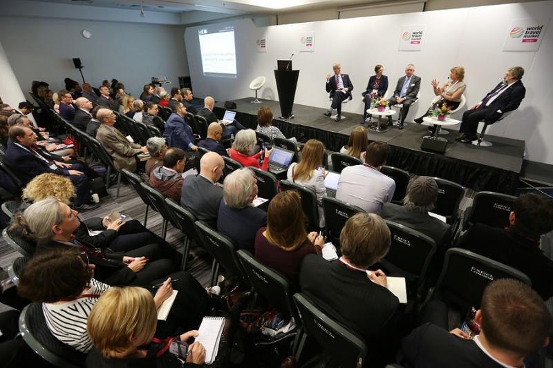Imagen de archivo de una conferencia organizada en la World Travel Market.