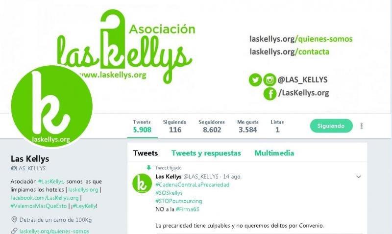 Imagen del perfil de Twitter de Las Kellys, donde continuan describiendo las condiciones en las que trabajan siguiendo el ejemplo de Bartual.