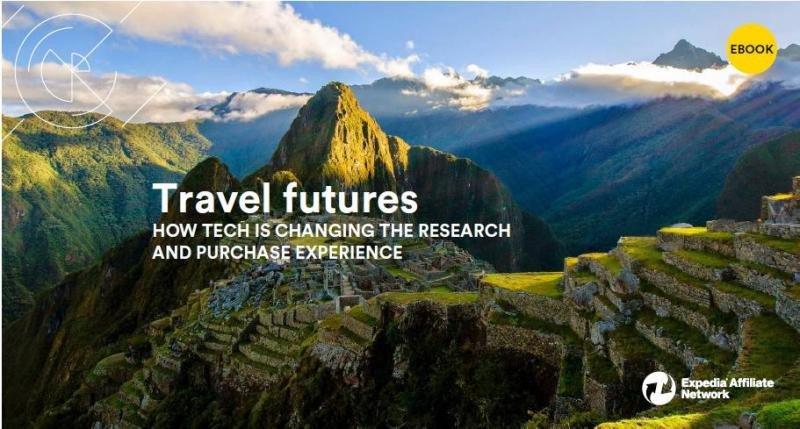 Imagen del ebook de Expedia Affiliate Network (EAN) en el que analiza los cambios que está introduciendo la tecnología en la experiencia de búsqueda y reserva de viajes.
