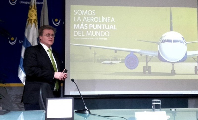 Holger Paulmann, CEO de Sky Airline, anunció las rutas de verano.Foto: J. Lyonnet (Archivo)