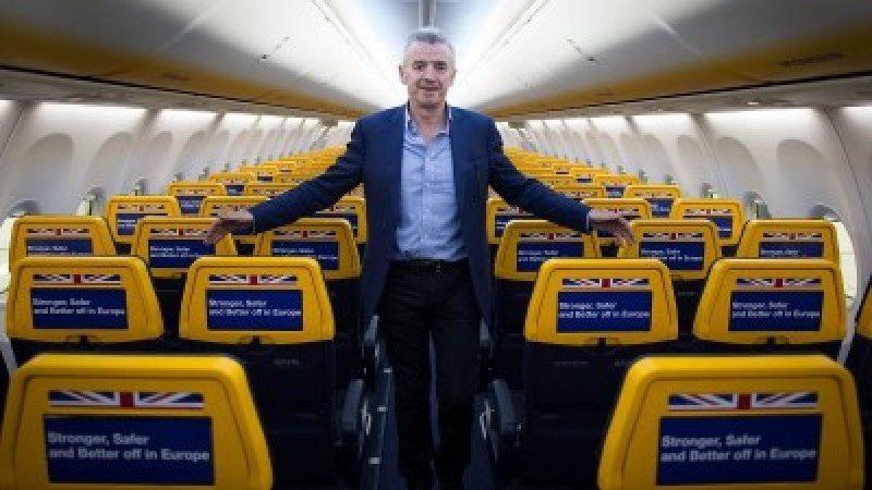 Michael O'Leary. Foto. Business Reporter.