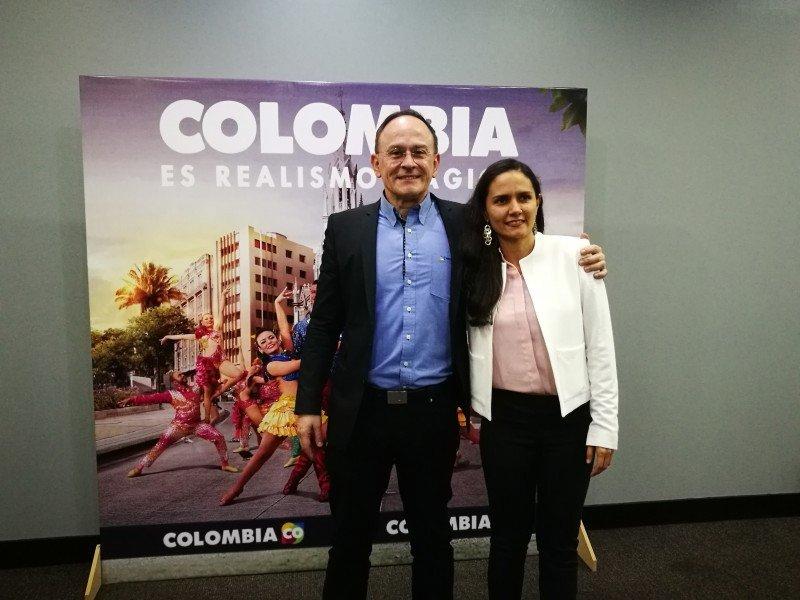Carlos Gonzalez Agudelo, Director de Procolombia Argentina y Paola Toro Piedrahita, Secretaria de Turismo de San Andres.
