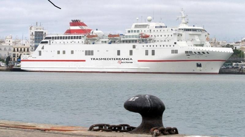 El ferry Juan J. Sister operará la nueva ruta de  Trasmediterránea con Menorca (Foto: Trasmediterranea).