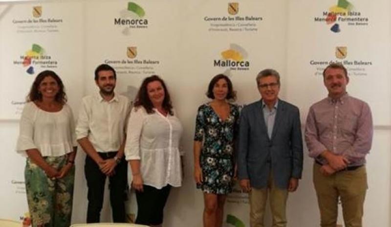Desde la izquierda: Catiana Tur, Pere Galmes, Edith Bouma, Pilar Carbonell, Martí Sarrate y Stpehan Ebert.