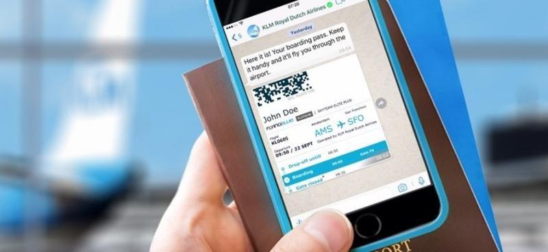 KLM, primera aerolínea en emitir la tarjeta de embarque por WhatsApp