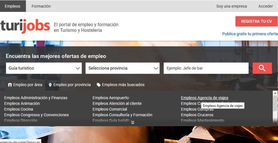 Turijobs cuenta con más de 800.000 usuarios registrados.