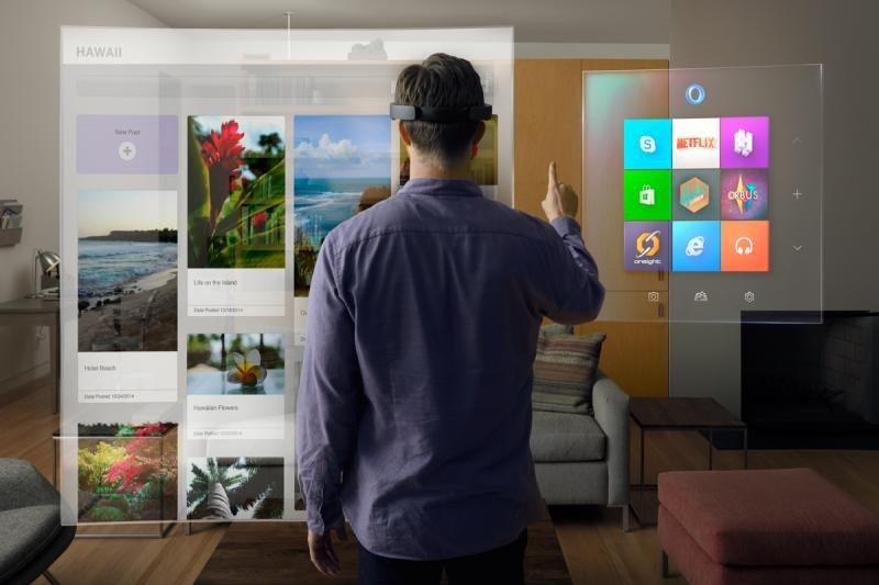 Imagen: las gafas Hololens de Microsoft.