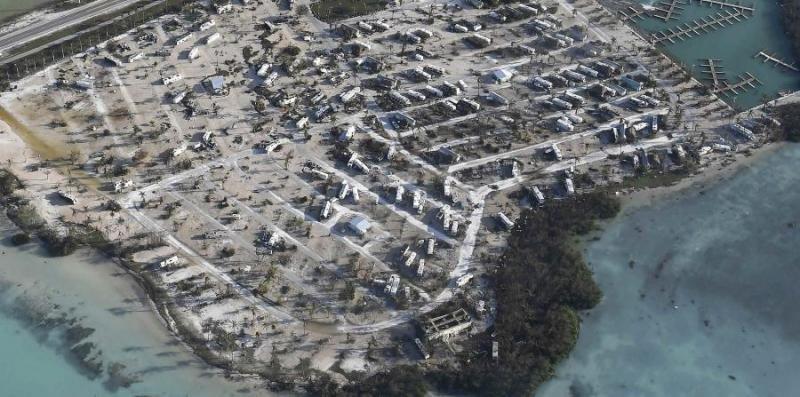Casas rodantes de los cayos, tras el paso de Irma. Foto: elnuevodia.com