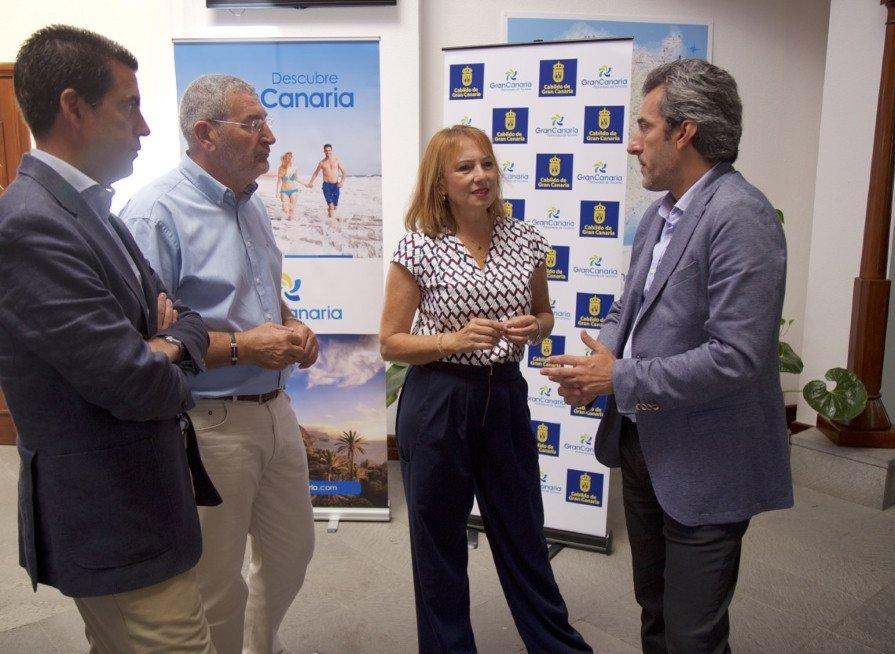 Inés Jiménez, consejera de Turismo del Cabildo de Gran Canaria, en la presentación del estudio.