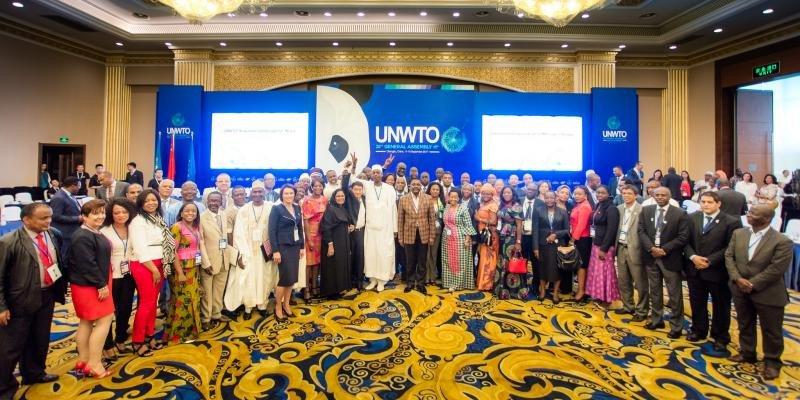Representantes de varios países en la asamblea anual de la OMT.