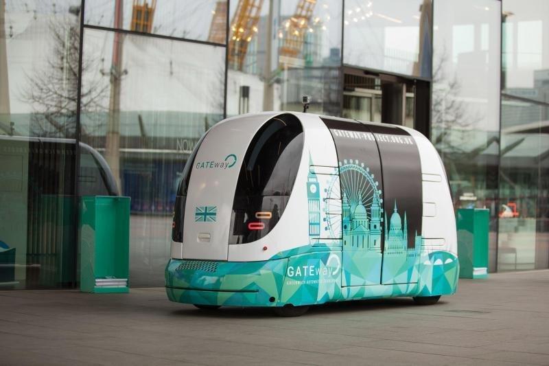 En la imagen, prototipo de autobús lanzadera que está funcionando en Londres.