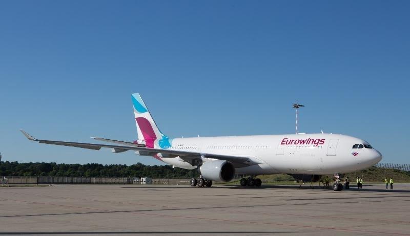Un avión A330 de Eurowings.