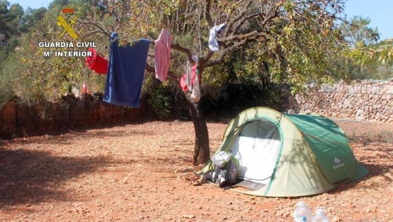 La Guardia Civil ha cerrado en Mallorca tres 'campings' ilegales que se vendían a turistas por internet