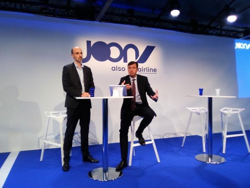 (De Izq. a Da.) Jean-Michel Mathieu y Franck Terner, los CEO de Air France y de Joon, respectivamente, han presentado la nueva aerolínea.