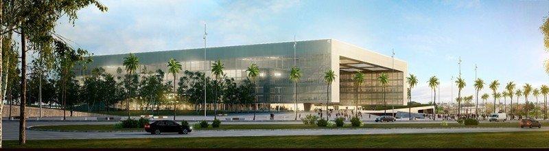Proyección del Antel Arena. Foto: Antel.