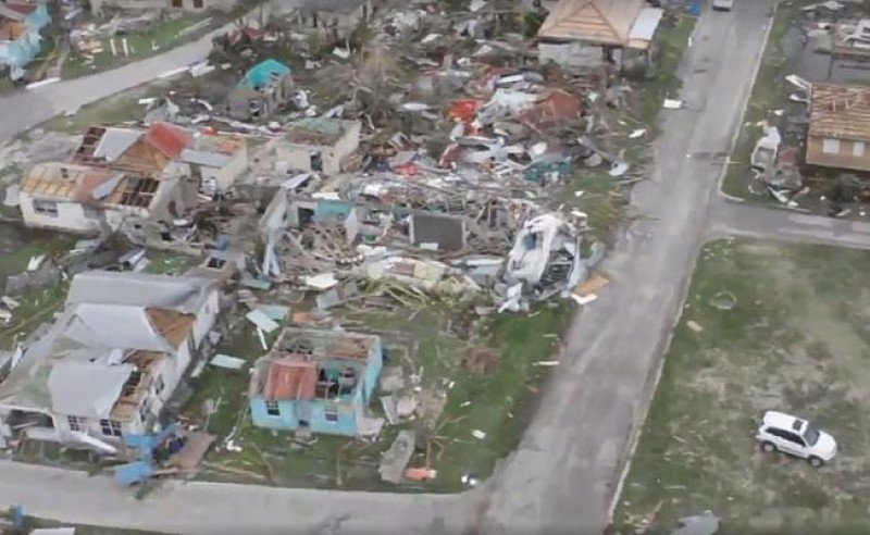 En la isla Barbuda el 90% de las viviendas e infraestructuras fue destruida o dañada.