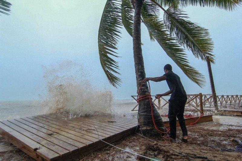 Costa de Puerto Plata durante el impacto de Irma.