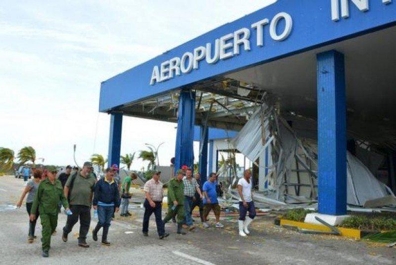 Huracán destruyó aeropuerto cubano de Jardines del Rey