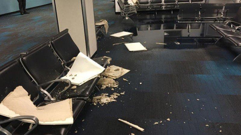 Daños en el aeropuerto de Miami.