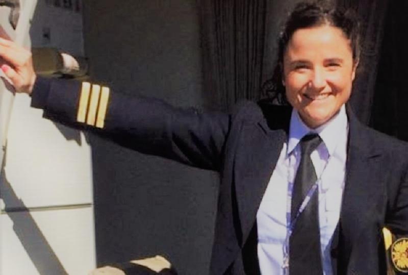 Vanessa de Velasco, piloto del Airbus A330/A340 y directora del proyecto Aviadoras (Foto: Cadena Ser).