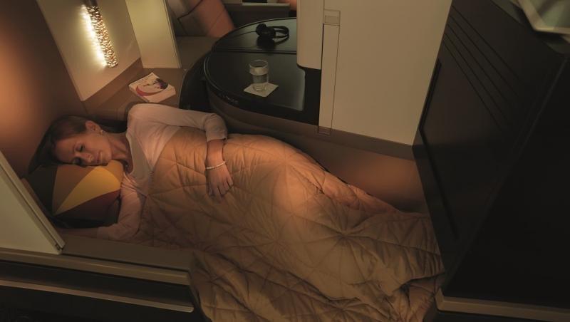 Los Business Studios cuentan con una cama totalmente plana de hasta 80,5 pulgadas de longitud.