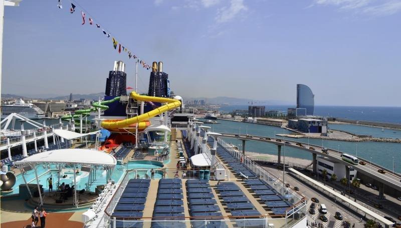 El Norwegian Epic en el Puerto de Barcelona. Foto: Nudoss.es.