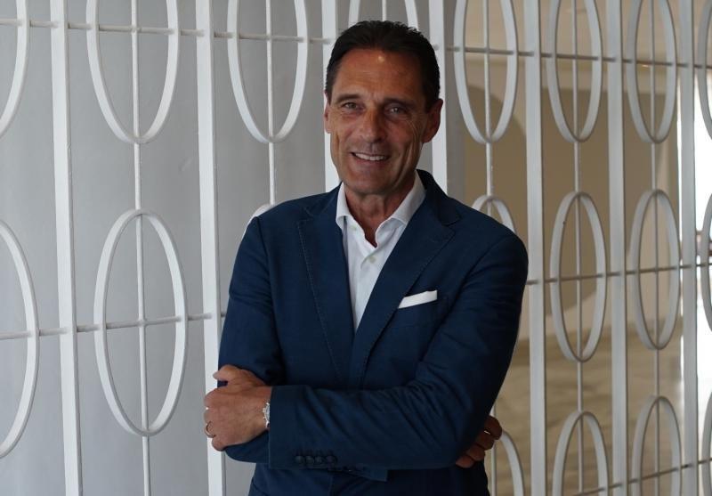 El CEO de Thomas Cook, Peter Fankhauser, durante su reciente encuentro con los hoteleros en Mallorca.