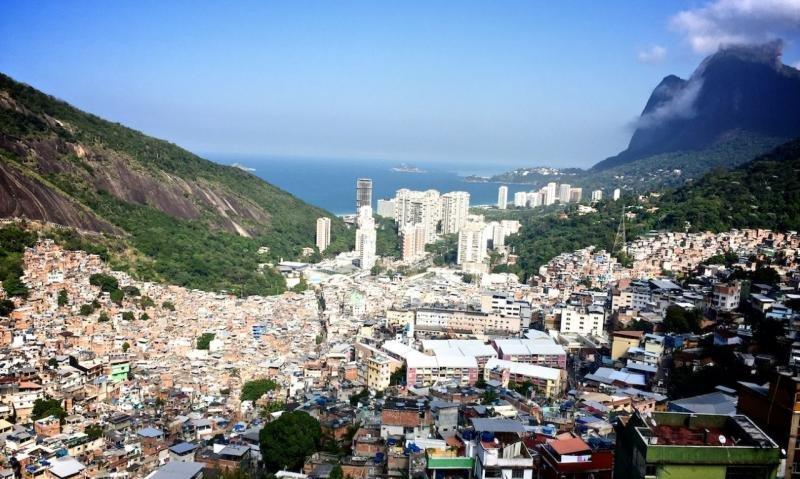 La favela de la Rocinha es una de las más grandes y peligrosas de Rio.